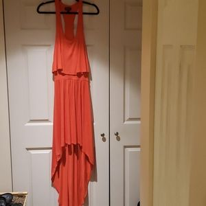 BEBE Halter style High/Low Dress